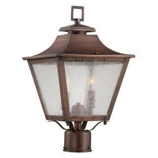 Acclaim Lighting Lafayette Collection Post-Mount 2-Light 17.5 inch Outdoor Copper Patina Light Fixture