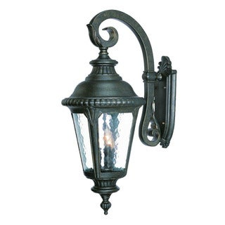 Acclaim Lighting Surrey Collection 3-Light Outdoor Black Gold Wall Lantern