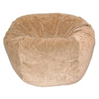 Ahh! Products - 27 Inch Wide Washable Kid Bean Bag Chair - Microsuede Velvet Tan
