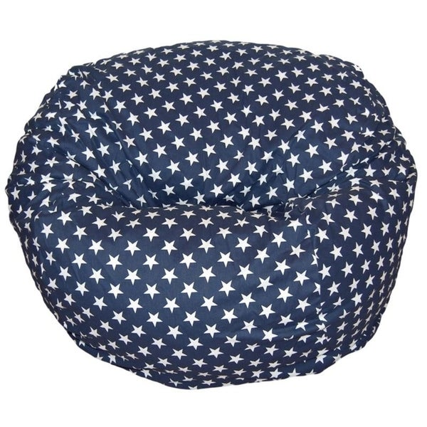 Ahh! Products   36 Inch Wide Washable Large Bean Bag Chair   Stars Navy