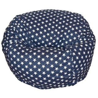 Ahh! Products - 36 Inch Wide Washable Large Bean Bag Chair - Stars Navy