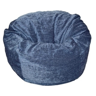 Ahh! Products - 27 Inch Wide Washable Kid Bean Bag Chair - Chenille Navy