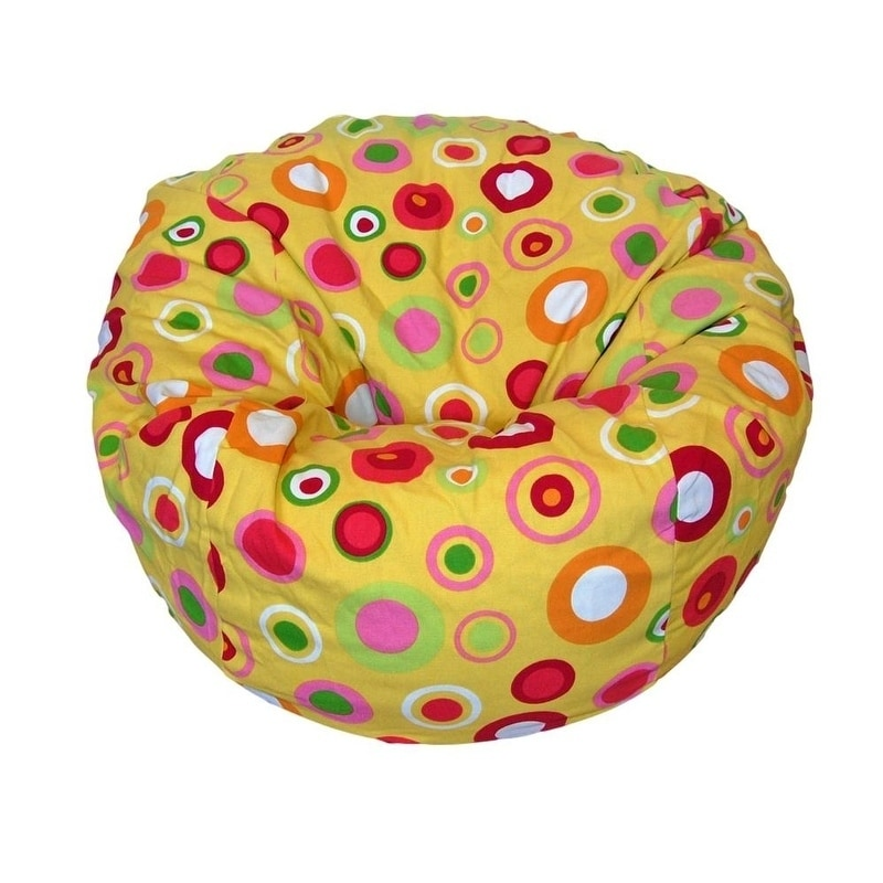Astonishing Ahh Products 27 Inch Wide Washable Kid Bean Bag Chair Bubbly Citrus Uwap Interior Chair Design Uwaporg