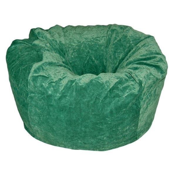 Terrific Ahh Products 36 Inch Wide Washable Large Bean Bag Chair Microsuede Velvet Green Evergreenethics Interior Chair Design Evergreenethicsorg