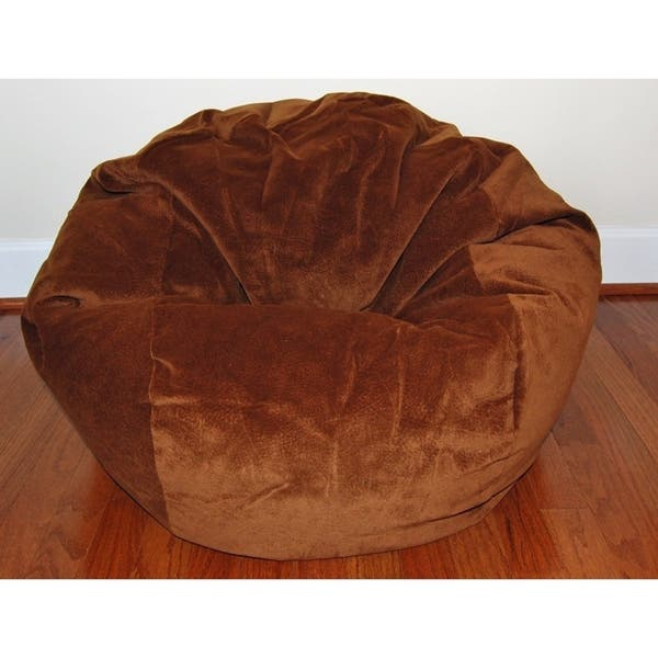 Excellent Ahh Products 27 Inch Wide Washable Kid Bean Bag Chair Microsuede Chocolate Evergreenethics Interior Chair Design Evergreenethicsorg