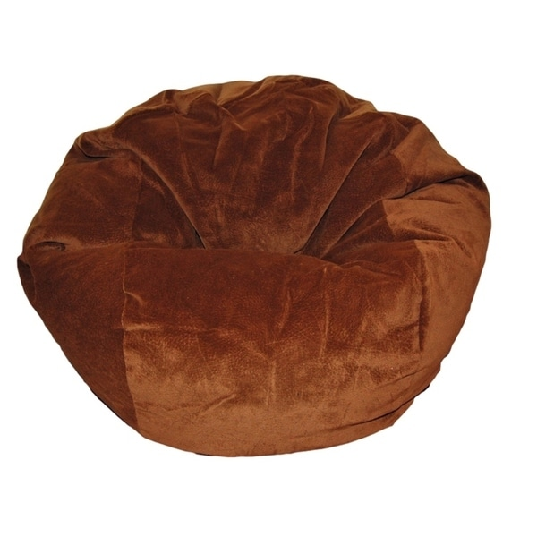 Ahh Products 27 Inch Wide Washable Kid Bean Bag Chair Microsuede Chocolate