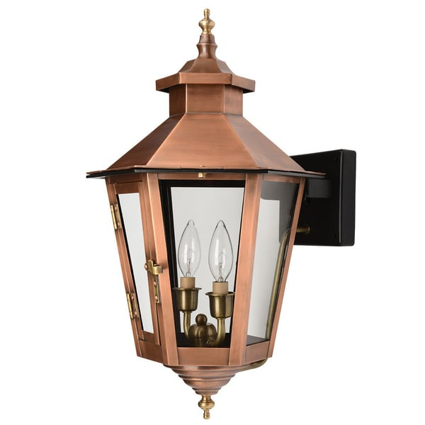 Acclaim Lighting Gulfport Collection 26-inch Wall Mount Outdoor Copper Patina Light Fixture