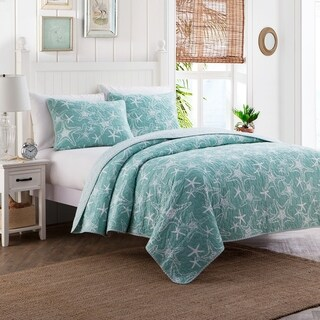 Starfish Cotton 3-piece King Size Quilt Set (As Is Item)