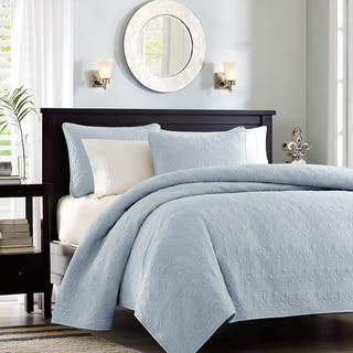Madison Park Mansfield 3-piece Twin/ TXL Size Quilted Pattern Coverlet Mini Set in White (As Is Item)|https://ak1.ostkcdn.com/images/products/18178779/P91027541.jpg?impolicy=medium