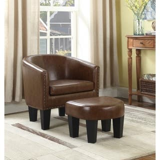 Best Quality Furniture Accent Chair and Ottoman Set. Chair   Ottoman Sets Living Room Furniture Sets For Less
