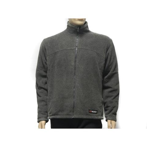 Spiral Men's Classic Polartec 200 weight Grey Heather Fleece Jacket