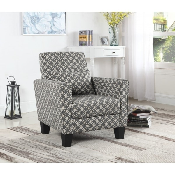 Shop Best Quality Furniture Geometric Print Accent Chair