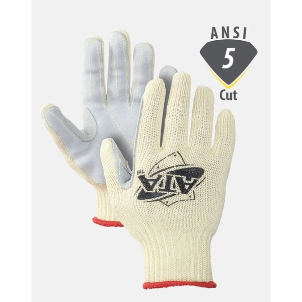 Worldwide Protective MATA30-BH Cut Resistant Gloves Leather Palm ATA Cut 5 (1 Pair)