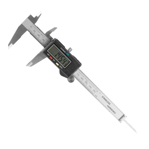 Electronic Digital Caliper, Stainless Steel with Extra Large LCD Screen and Inch/Metric Conversion- Stalwart