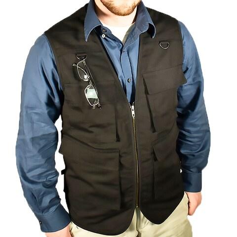 Bluestone Outback Concealment Vest-Black/ Fishing Vest/ Hunting Vest/ Hiking Vest/ Photography Vest