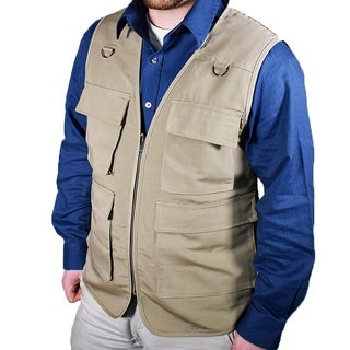 Bluestone Outback Concealment Vest-Tan/ Fishing Vest/ Hunting Vest/ Hiking Vest/ Photography Vest