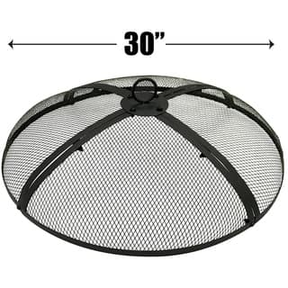 30 Inch Fire Screen - Fire Pit Cover - Fire Screen Protector|https://ak1.ostkcdn.com/images/products/18178916/P24325792.jpg?impolicy=medium