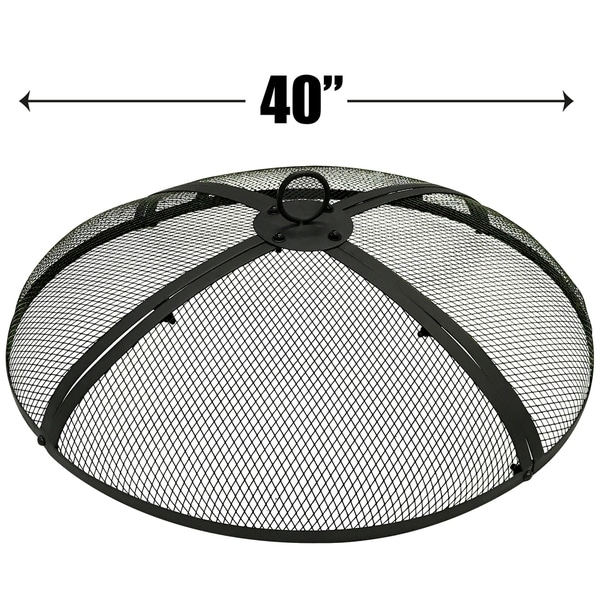 Shop 40 Inch Fire Screen Fire Pit Cover Fire Screen Protector