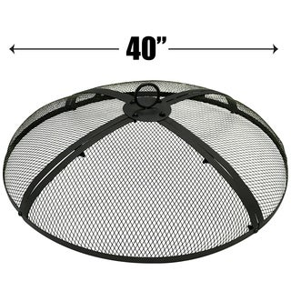 40 Inch Fire Screen - Fire Pit Cover - Fire Screen Protector