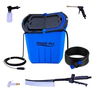 Rinse All EW10 -12V Powered Car Washer Kit - 7 Gallons Portable High Pressure Camping Shower