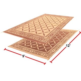RV Camping Mats - 9'x 12' Outdoor Patio Mat - Reversible RV Mat - Carrying Strap|https://ak1.ostkcdn.com/images/products/18178937/P24325794.jpg?impolicy=medium