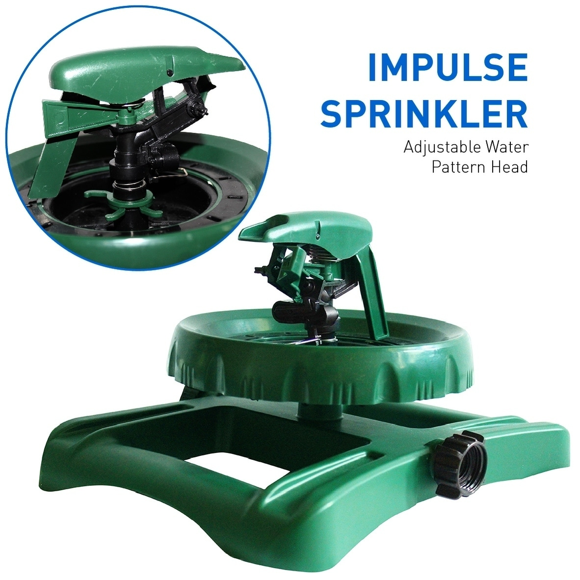 EasyGo Impulse Sprinkler with Adjustable Water Pattern He...
