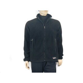 Spiral Men's Classic Polartec 200 weight Black Fleece Jacket (More options available)