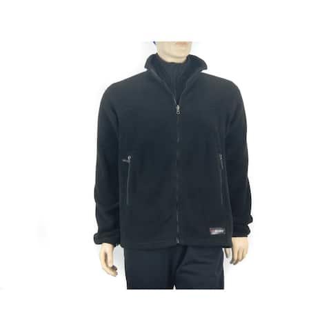 Spiral Men's Classic Polartec 200 weight Black Fleece Jacket