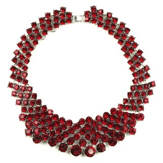 Eye Candy LA Crystal Clear Pomegranate Statement Collar