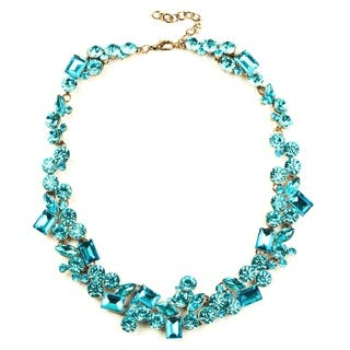 Eye Candy LA Bright Teal Stone Statement Necklace|https://ak1.ostkcdn.com/images/products/18179071/P24325907.jpg?impolicy=medium