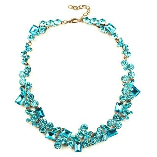 Eye Candy LA Bright Teal Stone Statement Necklace
