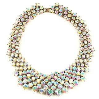 Eye Candy LA Iridescent Crystal Clear Statement Collar