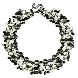 Eye Candy LA Clementine Bib Statement Necklace Black Stone|https://ak1.ostkcdn.com/images/products/18179322/P24326113.jpg?impolicy=medium