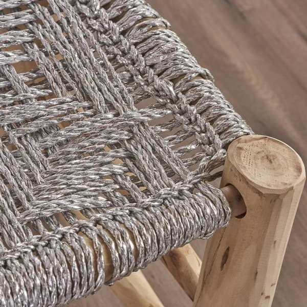 Incredible Shop Sahara Yarn Wood Stool By Christopher Knight Home Pdpeps Interior Chair Design Pdpepsorg