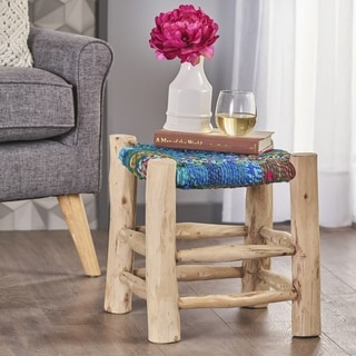 Sahara Cotton Wood Stool by Christopher Knight Home