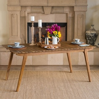 Serena Farmhouse Cottage 69-inch Rectangle Wood Dining Table by Christopher Knight Home - Brown
