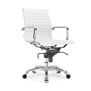 Century White Modern Classic Aluminum Office Chair