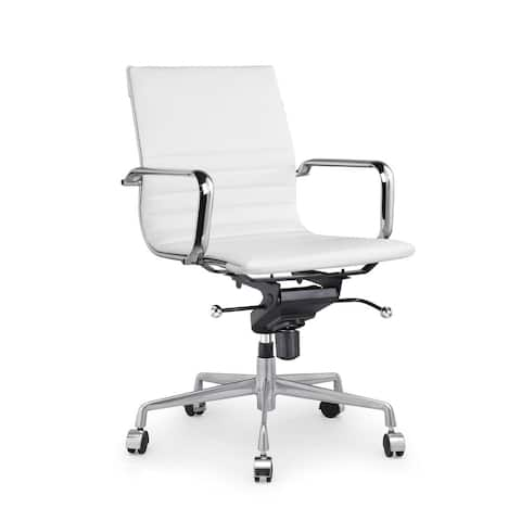 Decade White Modern Classic Aluminum Office Chair