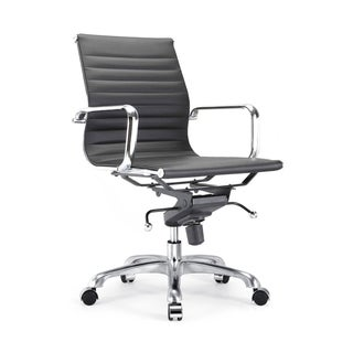 Century Black Modern Classic Aluminum Office Chair