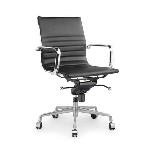 Decade Black Modern Classic Aluminum Office Chair