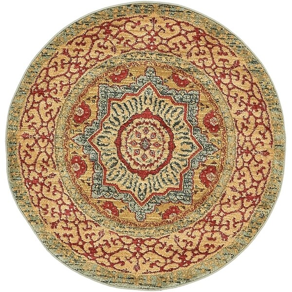 Unique Loom Quincy Palace Round Rug - 3' 3 X 3' 3 Round