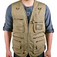 Bluestone Tan Concealment Vest/ Fishing Vest/ Hunting Vest/ Hiking Vest/ Photography Vest