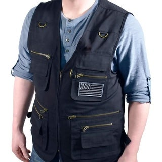 Bluestone Black Concealment Vest/ Fishing Vest/ Hunting Vest/ Hiking Vest/ Photography Vest