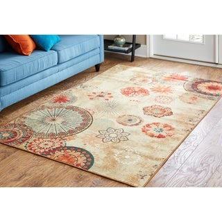 Porch & Den Park Circle Bexley Indoor/ Outdoor Printed Medallion Rug (5' x 8')