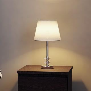 Porch & Den Guilford Linkwood 16-inch Ashford White Shade Crystal Orb Table Lamp (Set of 2)