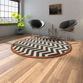 Link to Tuntutuliak Chevron Indoor/ Outdoor Area Rug - 7'3 Round by Havenside Home Similar Items in Casual Rugs