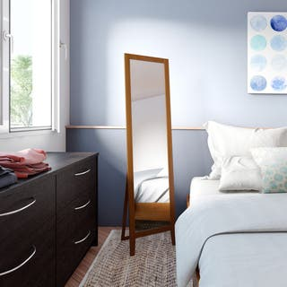 wall mirrors for bedroom. Porch  Den LoDo Lawrence Standing Wood Rectangle Mirror Bedroom Mirrors For Less Overstock com