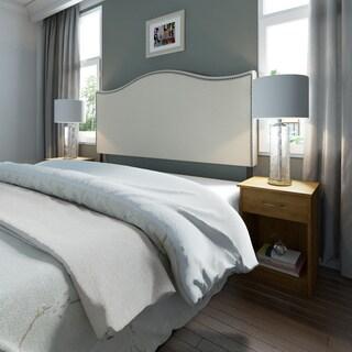 Porch & Den Silver Lake Fletcher King-size Nailhead Upholstered Headboard