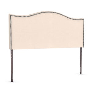 Porch & Den Silver Lake Fletcher King-size Nailhead Upholstered Headboard (Option: Ivory - Off-White Finish)
