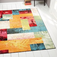 Home Dynamix Splash Collection Contemporary Multi-Colored Area Rug (5'2 x 7'2) - 5'2 x 7'2